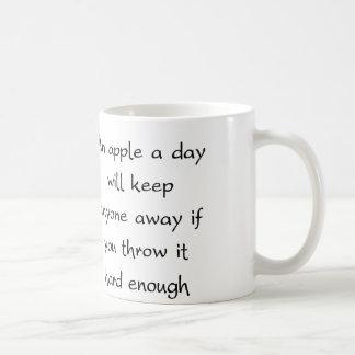 An Apple A Day Will Keep Everyone Away Coffee Mug