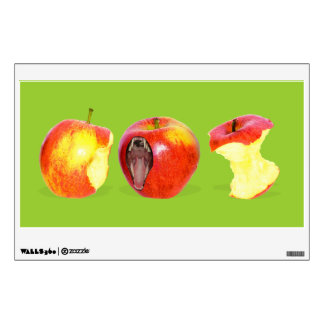 An Apple Eating Apple Wall Sticker