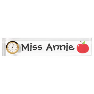 An Apple For Teacher Desk Name Plate