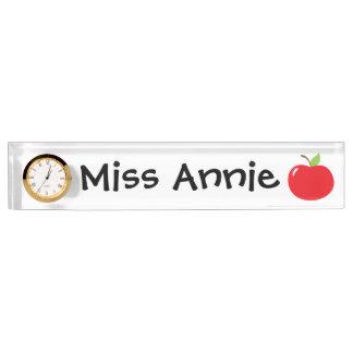 An Apple For Teacher Desk Nameplates