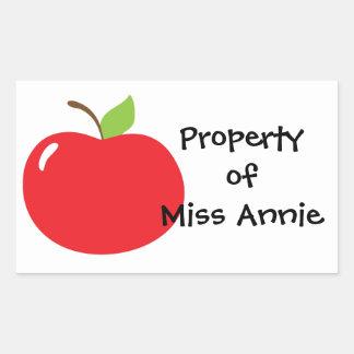 An Apple For Teacher Rectangular Sticker
