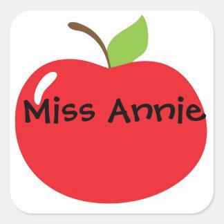 An Apple For Teacher Square Sticker
