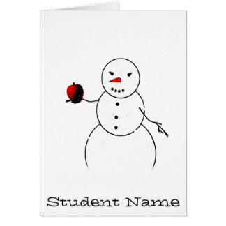 An Apple for the Teacher from Little Snowman Card
