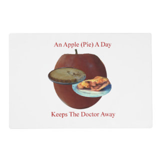 An Apple (Pie) A Day Laminated Placemat