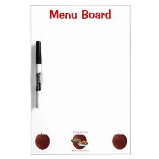 An Apple (Pie) A Day Large Dry Eras - Customized Dry Erase Board