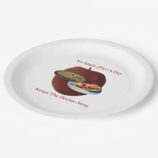 An Apple (Pie) A Day Paper Plate 9 Inch Paper Plate
