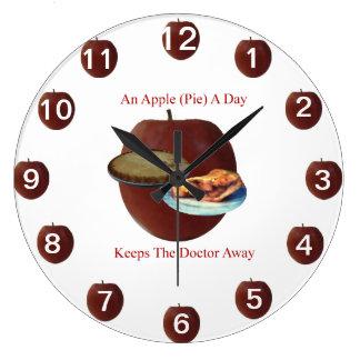 An Apple (Pie) A Day Wall Clock