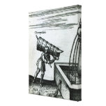 An apprentice fetching water from a fountain gallery wrapped canvas