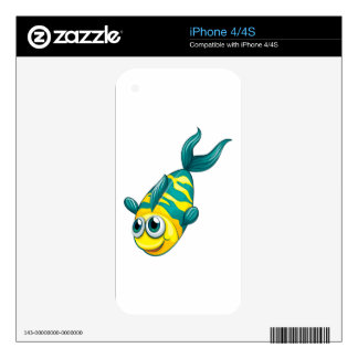 An aquatic fish decal for the iPhone 4S
