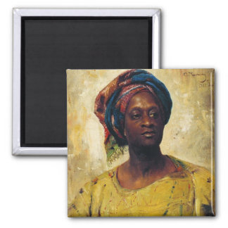 An Arab in a Turban 2 Inch Square Magnet