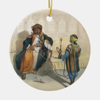 An Arab Sheikh Smoking, illustration from 'The Val Ceramic Ornament