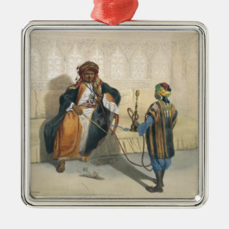 An Arab Sheikh Smoking, illustration from 'The Val Metal Ornament