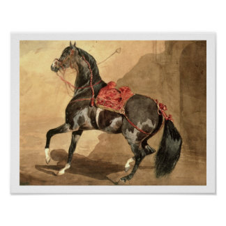 An Arabian Horse (w/c laid down on paper) Poster