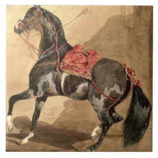 An Arabian Horse w c laid down on paper Tiles