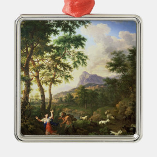 An Arcadian Landscape with Pan and Syrinx Metal Ornament