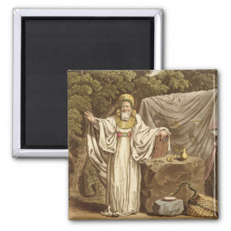 An Arch Druid in his Judicial Habit, engraved by R 2 Inch Square Magnet