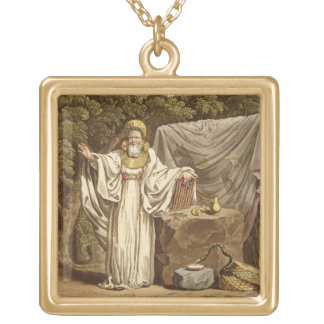 An Arch Druid in his Judicial Habit, engraved by R Gold Plated Necklace