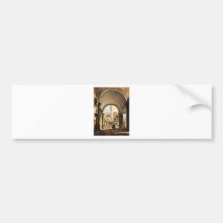 An Architectural Caprice by Francesco Guardi Bumper Sticker