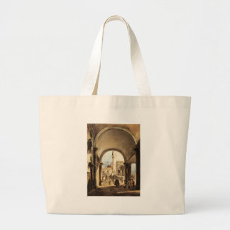 An Architectural Caprice by Francesco Guardi Jumbo Tote Bag