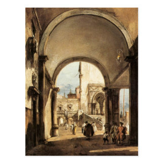 An Architectural Caprice by Francesco Guardi Postcard