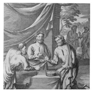 An Argument Between Cartographers, illustration fr Ceramic Tile