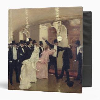An Argument in the Corridors of the Opera, 1889 Vinyl Binder