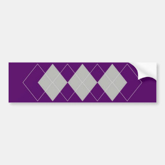An Argyle Pattern 4 Bumper Sticker