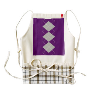 An Argyle Pattern 4 Zazzle HEART Apron