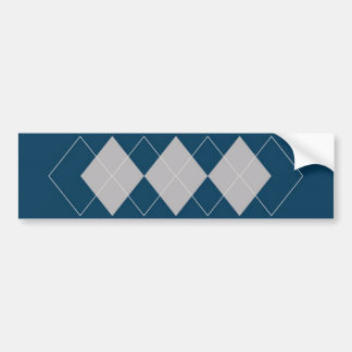 An Argyle Pattern Bumper Sticker