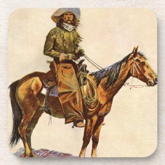 An Arizona Cowboy by Remington Vintage Western Art Drink Coasters