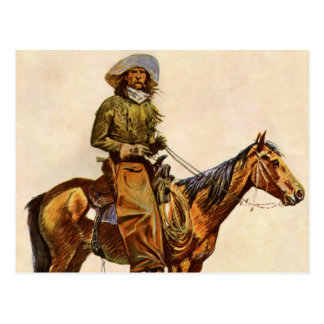 An Arizona Cowboy by Remington Vintage Western Art Post Cards