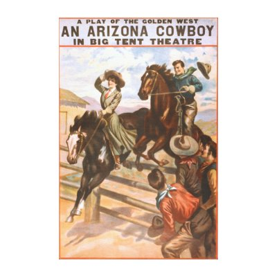 sc 1 st  Zazzle & An Arizona Cowboy in Big Tent Theatre Poster Postcard | Zazzle.com