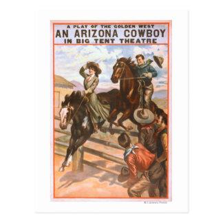 An Arizona Cowboy in Big Tent Theatre Poster Postcard