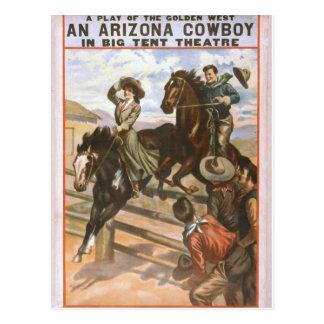 An Arizona Cowboy Retro Theater Postcard