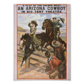 An Arizona Cowboy Retro Theater Posters