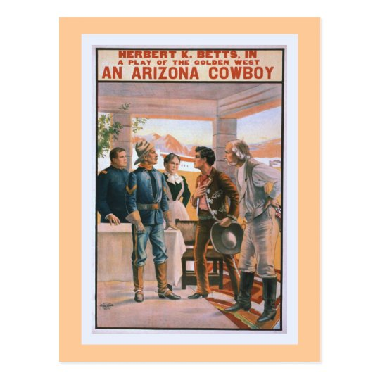 An Arizona Cowboy Vintage Theater Postcard