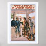 An Arizona Cowboy Vintage Theater Poster