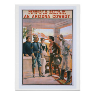 An Arizona Cowboy Vintage Theater Poster