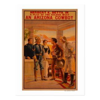 An Arizona CowboyWestern Play Poster Postcard