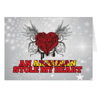 An Arizonan Stole my Heart Greeting Cards