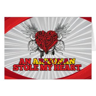 An Arizonan Stole my Heart Greeting Card