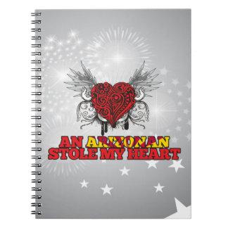An Arizonan Stole my Heart Notebook