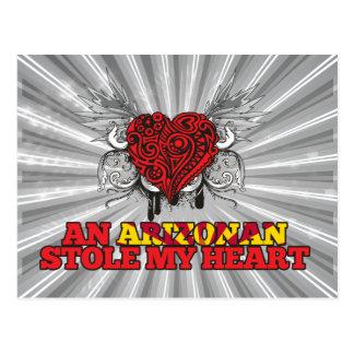 An Arizonan Stole my Heart Postcard