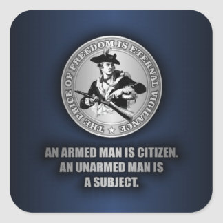 An Armed Citizen Square Sticker