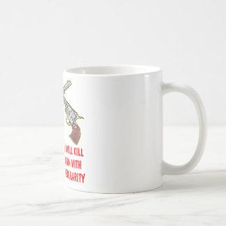 An Armed Man Will Kill An Unarmed Man Classic White Coffee Mug