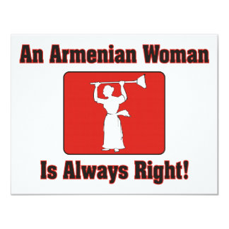 An Armenian Woman Is Always Right Card
