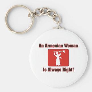An Armenian Woman Is Always Right Keychain
