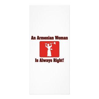 An Armenian Woman Is Always Right Rack Card