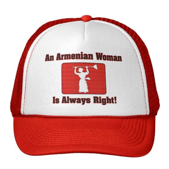 An Armenian Woman Is Always Right Trucker Hat