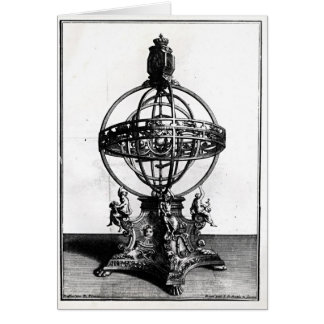 An Armillary Sphere of the Copernican System Card